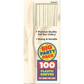 Big Party Pack Vanilla Crème Plastic Knives, 100ct