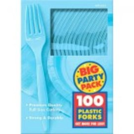 Big Party Pack Caribbean Plastic Forks, 100ct