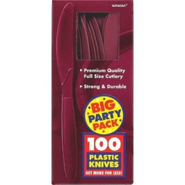 Big Party Pack Berry Plastic Knives, 100ct