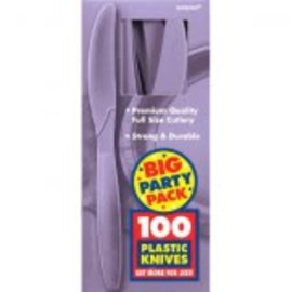 Big Party Pack Lavender Plastic Knives, 100ct