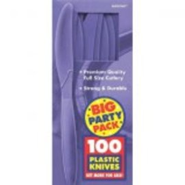 Big Party Pack New Purple Plastic Knives, 100ct
