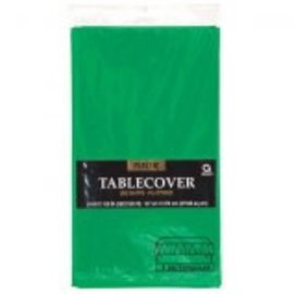 """Festive Green Rectangular Plastic Table Cover, 54"""" x 108"""""""