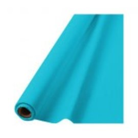 "Caribbean Blue Solid Table Roll, 40"" x 100'"