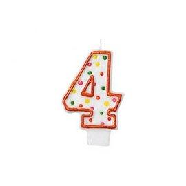 Polka Dots #4 Flat Molded Candle