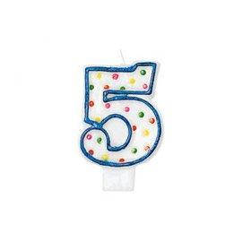 Polka Dots #5 Flat Molded Candle