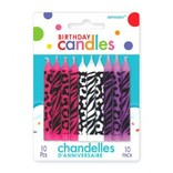 Animal Print Birthday Candle Assortment, 10ct