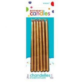Gold Mini 5'' Taper Candles, 12ct