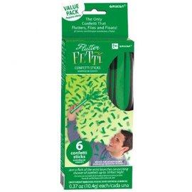 Green Flutter Fetti-6ct