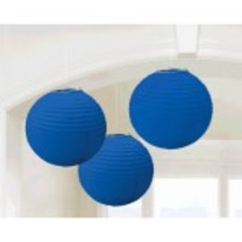 Round Paper Lantern Bright Royal Blue 3Ct
