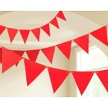 Apple Red Paper Pennant Banner