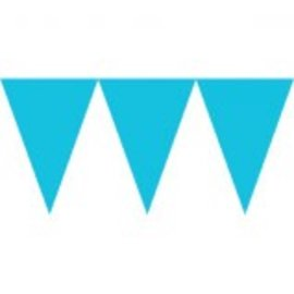 Caribbean Blue Paper Pennant Banners