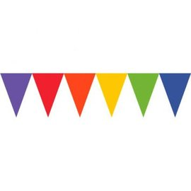 Pennant Banner Paper Rainbow