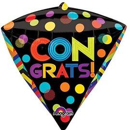 """Congrats Dots Diamondz Balloon, 17"""""""