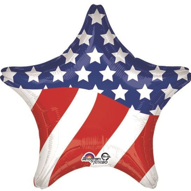 Stars and Stripes Star Balloon, 28""