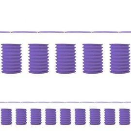 New Purple Paper Lantern Garland 12'