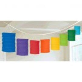 Rainbow Paper Lantern Garland-12'