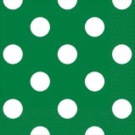 Festive Green Dots Beverage Napkins 16ct.