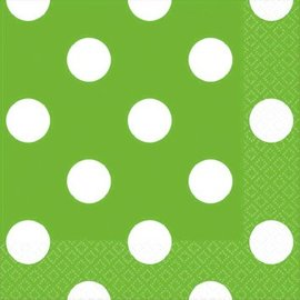 Kiwi Dots Beverage Napkins 16ct.