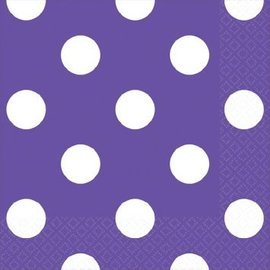New Purple Dots Beverage Napkins-16ct