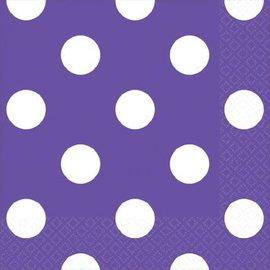 New Purple Dots Beverage Napkins-16ct