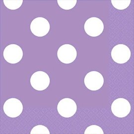 Lavender Dots Beverage Napkins 16ct.