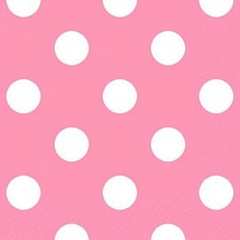 New Pink Dots Beverage Napkin 16ct.