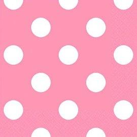 New Pink Dots Beverage Napkin 16ct.