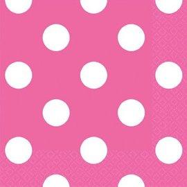 Bright Pink Dots Beverage Napkins 16ct.