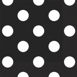 Black Dots Beverage Napkins-16ct