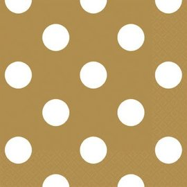 Gold Dots Beverage Napkins 16ct.