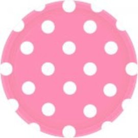 "New Pink Plates, 7"" ‑ Dots 8ct"