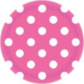 "Bright Pink Dots, 7"" Plates 8ct"