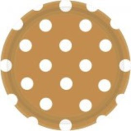 "Gold Plates, 7"" ‑ Dots 8ct"