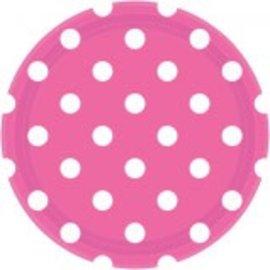 "Bright Pink Dots, 9"" Plates 8ct"