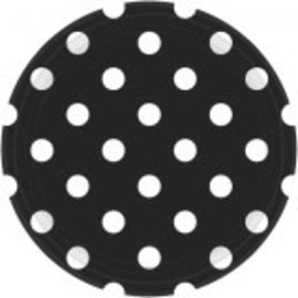 "Black Dots, 9"" Plates 8ct"