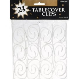 Plastic Table Clips, 24ct