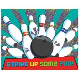 Bowling Party Large Novelty Invites, 8ct