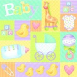 """Pastel Patchwork Gift Wrap 30""""x5'"""