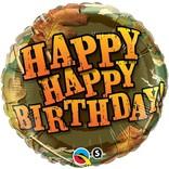 """Camouflage Happy Birthday, 18"""""""