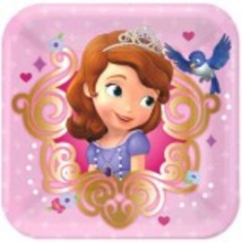"©Disney Sofia The First Square Plates, 7""-8ct"