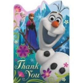 ©Disney Frozen Postcard Thank You Cards 8CT