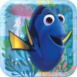 "©Disney/Pixar Finding Dory Square Plate, 7"", 8ct- Clearance"
