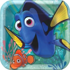"©Disney/Pixar Finding Dory Square Plate, 9"", 8ct- Clearance"