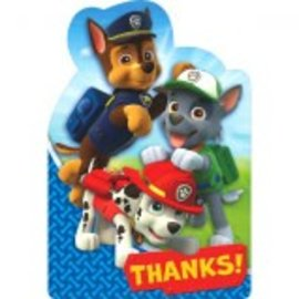 Paw Patrol™ Postcard Thank You 8CT