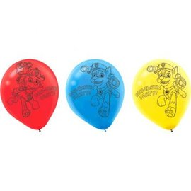 Paw Patrol™ Printed Latex Balloons 6ct