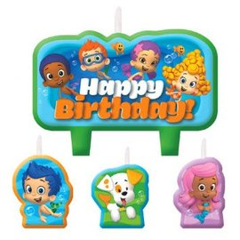 Bubble Guppies Birthday Candle Set, 4ct - Clearance