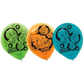 Bubble Guppies Latex Balloons 6ct - Clearance