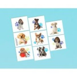 Party Pups Tattoos, 16ct - Clearance