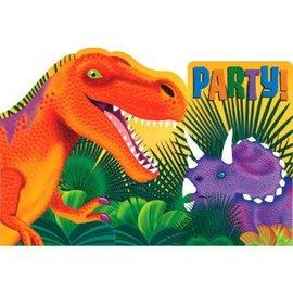 Prehistoric Dinosaurs Postcard Invites-8CT