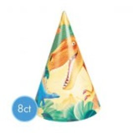 Prehistoric Party Hats 8Ct